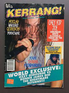 KERRANG MAGAZINE #414 October 1992 Ugly Kid Joe / Black Sabbath / Quireboys