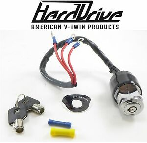 Details about Hard Drive Motorcycle 3 Wire Position Ignition Switch Start  Stop Harley Davidson