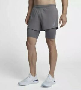 Nike-Aeroswift-4-034-2-in-1-Running-Shorts-Flyvent-Gray-Silver-SZ-892901-036