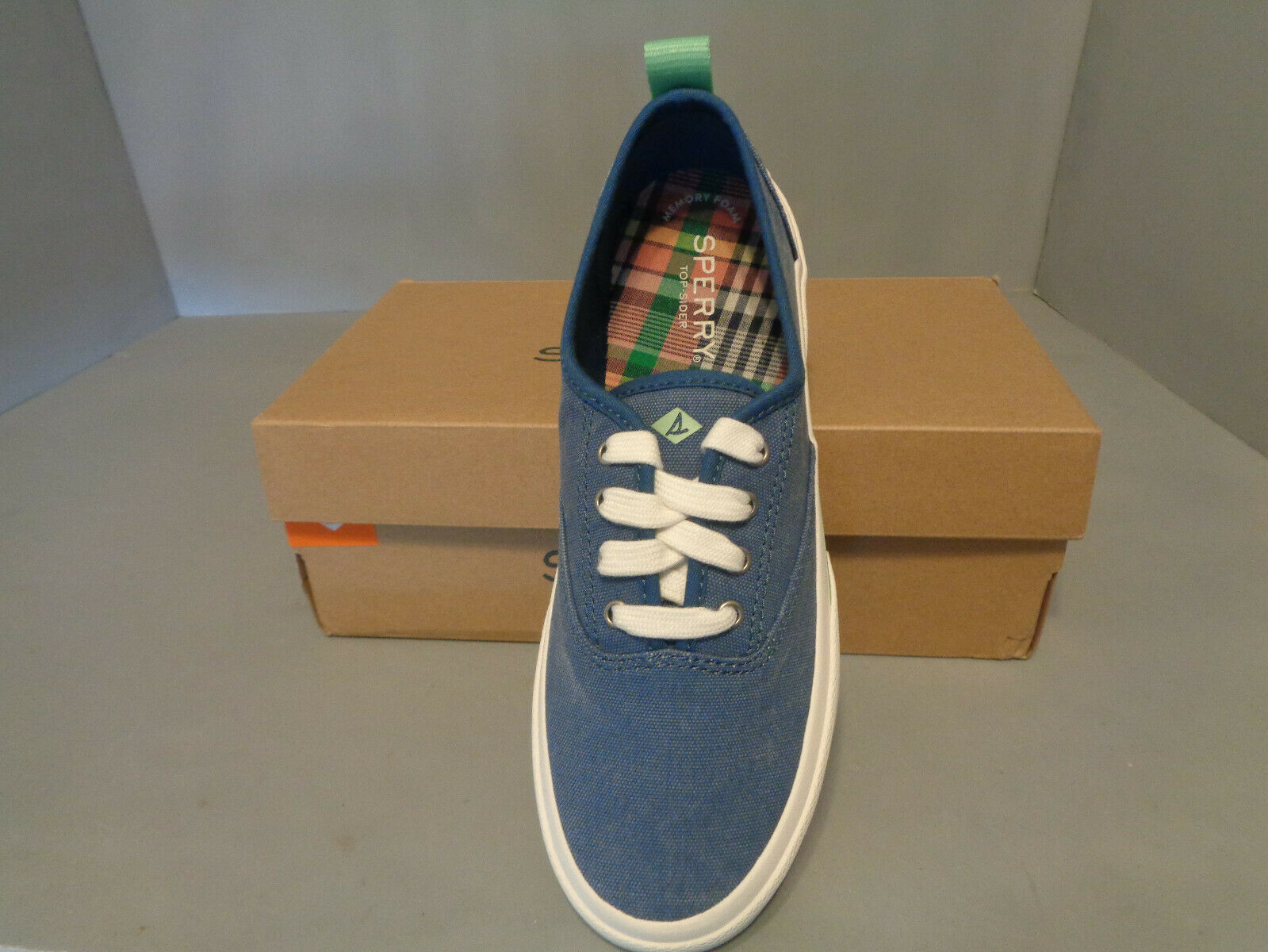 Women's Sperry Pier Wave CVO Sneaker Shoes Blue Denim NIB* New Sizes Think Boat