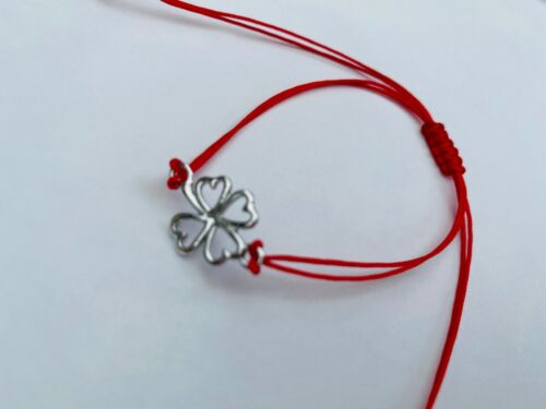 Tree of Life Infinity Cross clover blue eye Red Cord Bracelet ADJUSTABLE