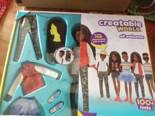 Creatable World Black Braided Hair Deluxe Character Kit DC-725 New in Box