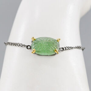 Aventurine Bracelet 925 Sterling Silver Jewelry Unique  Inches 7.5/BR04087