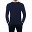 Maglione-uomo-Girocollo-Casual-slim-fit-Maglioncino-Cashmere-Blu-Nero-Verde-Blu miniatura 16