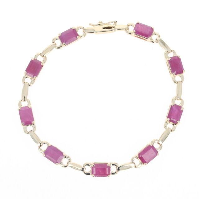 Ruby Link Bracelet 6 3/4