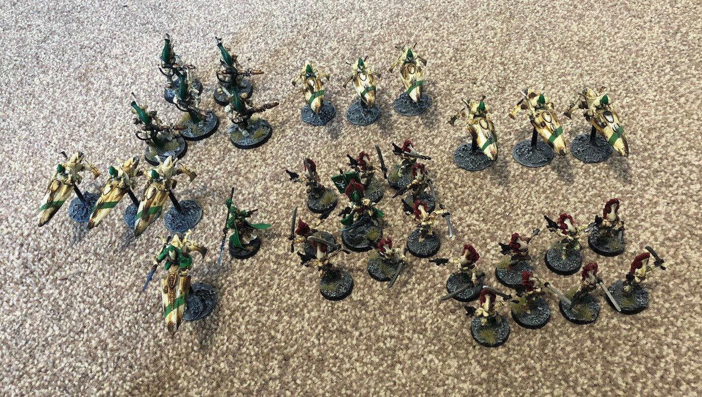 Warhammer 40k - Eldar Biel-Tan Battle Damaged Army Well Painted