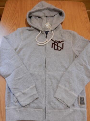 NWT Mens AMERICAN EAGLE  Full Zip Hoodie Sweatshirt Gray
