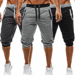 Summer-Men-039-s-Casual-Jogging-Sports-Shorts-Baggy-Gym-Harem-Capri-Pants-Trousers