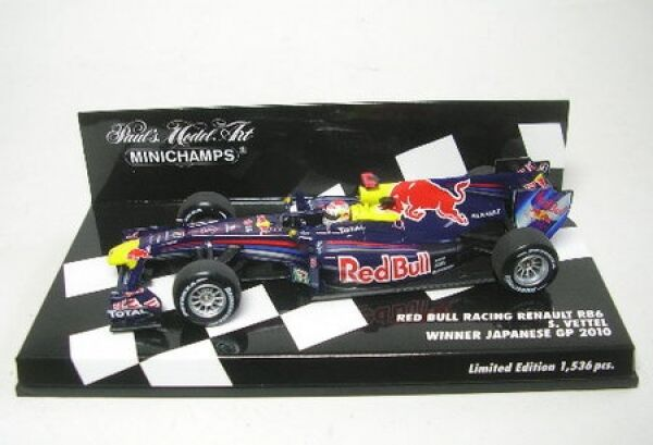Red Bull Racing Renault RB 6 pag. ciabatta no. 5 WINNER GP Giappone 2010