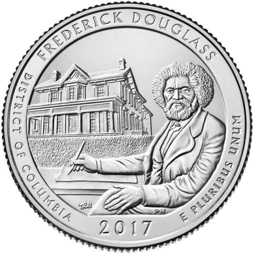 "DC /""ATB/"" NATIONAL PARK QUARTER P+D 2-COIN SET UNCIRCULA 2017 FREDERICK DOUGLASS"
