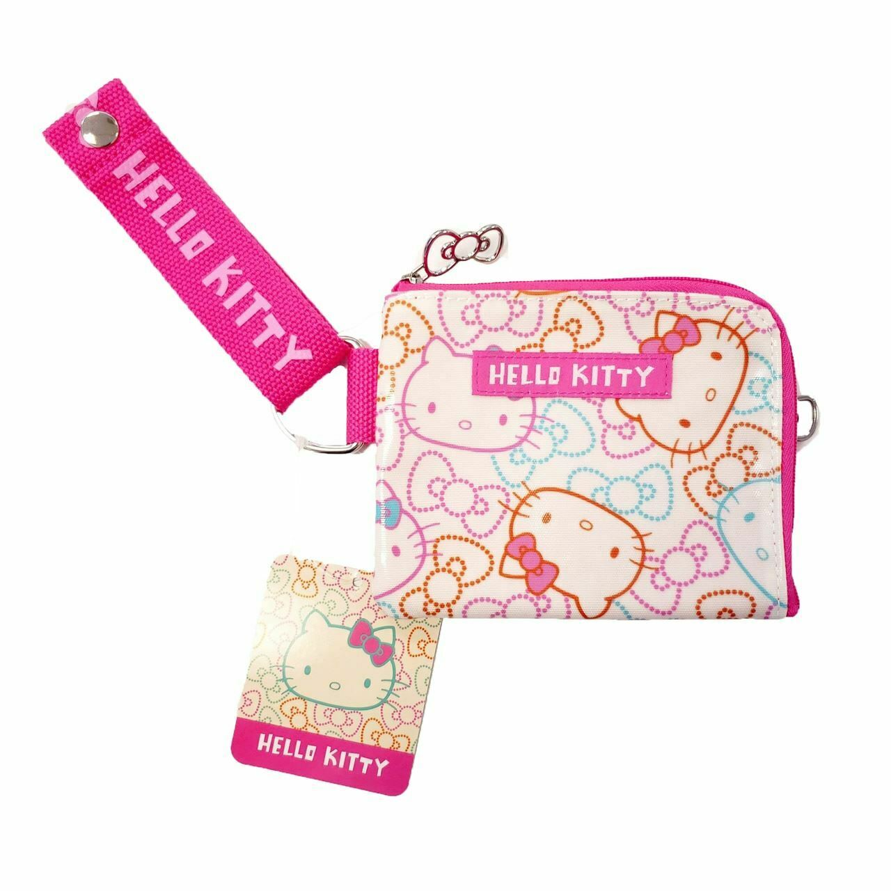 Hello Kitty Wristlet Coin Pouch: Color Ribbons Sanrio Japan