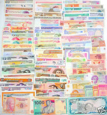 NEW Paper Money 102 World Banknotes UNC high quality ,All Genuine