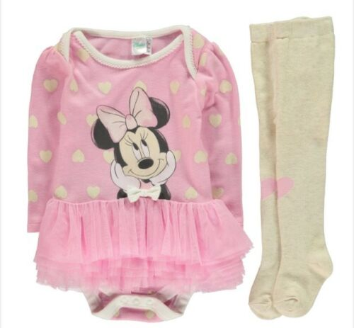 Brand New Baby Girl/'s Disney Minnie Mouse Vêtements 3 To Choisir De