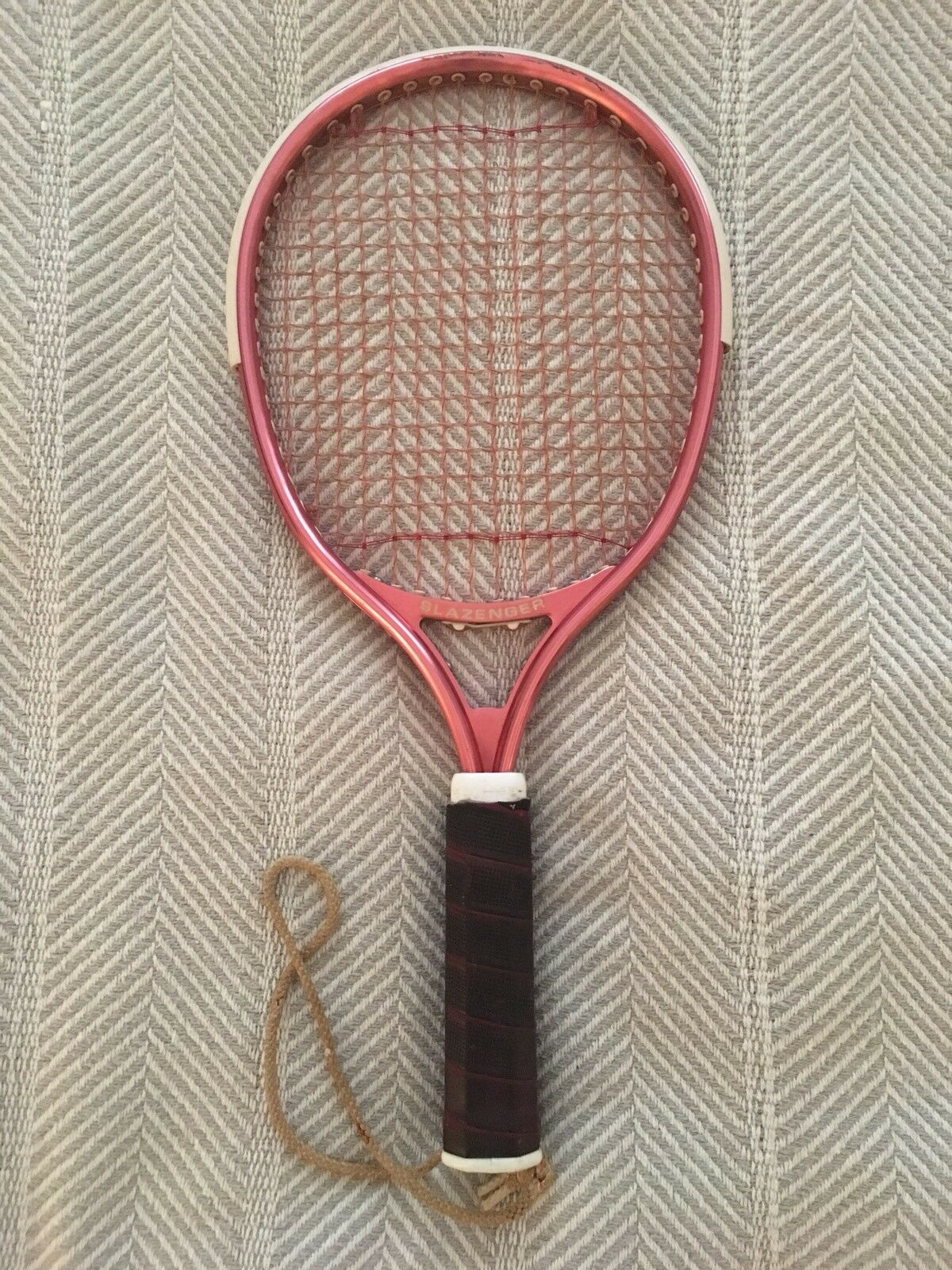 Vintage Pink Professional Racquet Slazenger Wrapped Handle GREAT