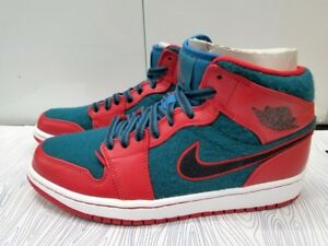 6245adc51498f5 BRAND NEW NIKE AIR JORDAN 1 MID RED BLACK-DARK SEA WHITE 633206-608 ...