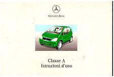 MERCEDES CLASSE  A – 2000/2001 – USO E MANUTENZIONE - Driver's Handbook!