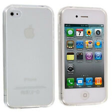 Clear Slim Thin Transparent TPU Soft rubber case cover for iPhone 4 4S 4G