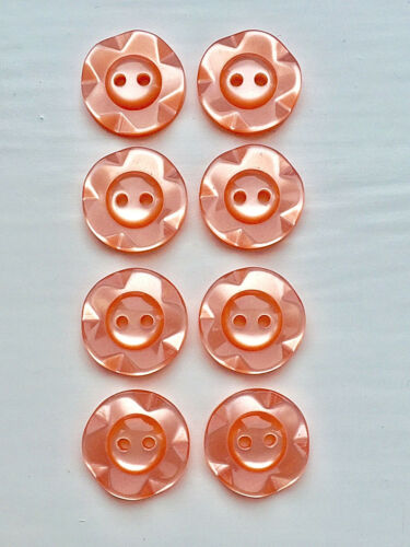 8 Fruit Gum Buttons in 3 Sizes and 14 Colours