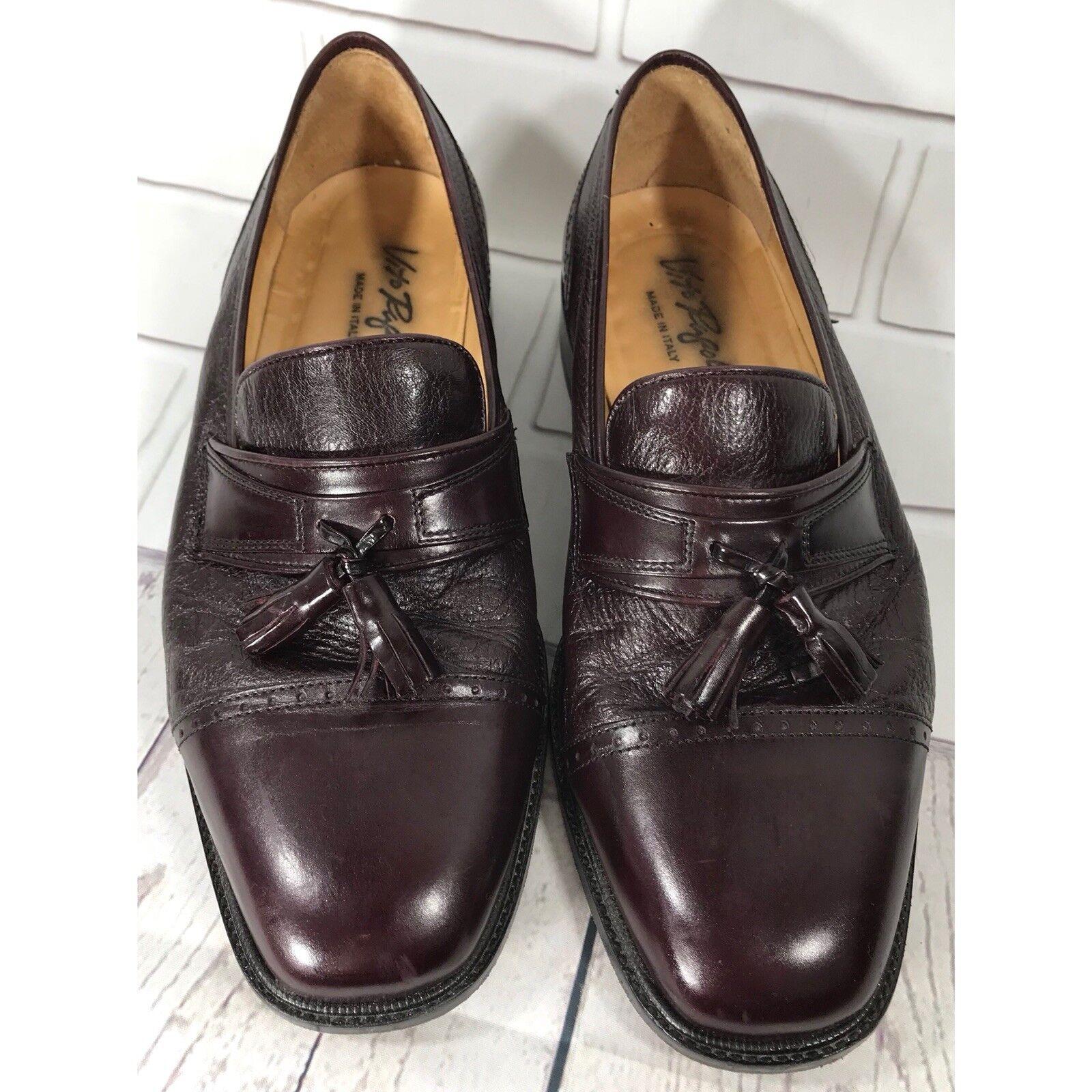 Vito Rufolo Men's Burgundy Leather Tassel Loafers Slip On schuhe schuhe schuhe Größe 9.5 W  5214d0