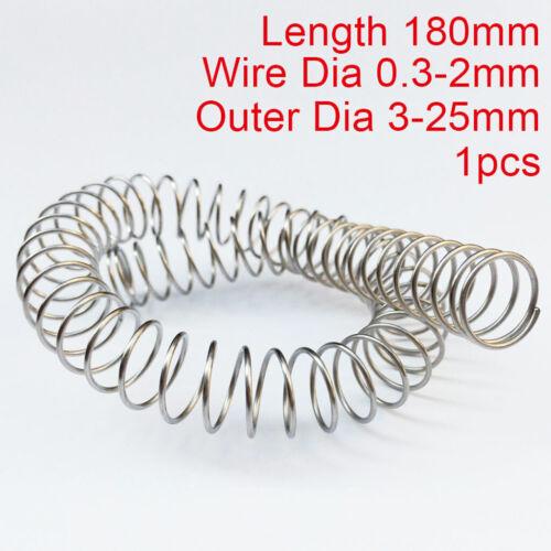 180mm Länge Druckfeder 0,3-2mm Wire 304 Edelstahl Druck Kleine Federn Alle Größe