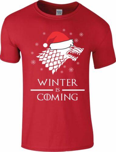 Winter Is Coming T Shirt Game of Thrones Père Noël Hommes Femmes Enfants