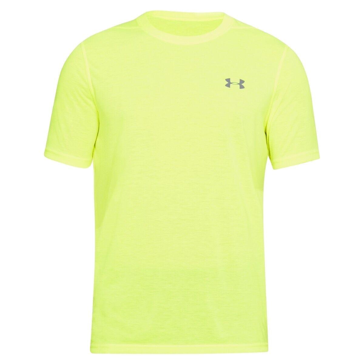 Under maglietta Armour threadborne SU MISURA maniche corte t-shirt maglietta Under GIALLO 649488