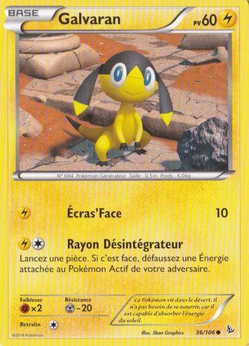 Carte Pokemon Neuve Française 36//106 XY2:Etincelles Galvaran