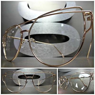 Mens CLASSIC VINTAGE RETRO Style Clear Lens EYE GLASSES Rose Gold Tortoise Frame