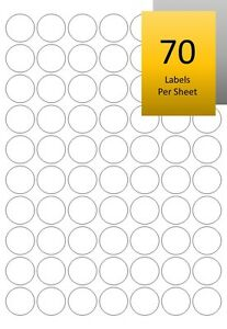 picture regarding Gold Printable Labels known as Information and facts above Gold/Silver Sticky Cover Labels - Spherical/Round Laser Printable Mini Stickers