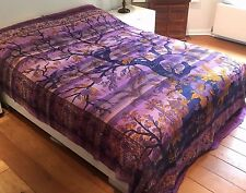 Indian Tree of Life Bedspread Bedding Throws Bed Wall Tapestry Wall Hanging Boho