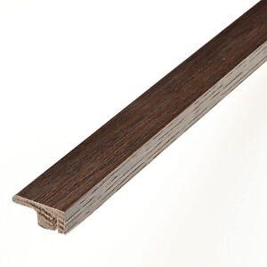 Image is loading Real-Solid-Oak-Dark-Oak-End-Profile-Cap-  sc 1 st  eBay & Real Solid Oak Dark Oak End Profile/Cap For Wood Floor Threshold ...