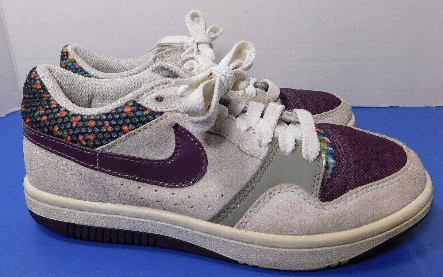 Nike Court Force Low Sneakers 315112-051 Women's Size Dot 6 Gray Purple Polka Dot Size eaf286