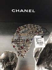 NWT CHANEL 2016 $3050 Red PEARL NECKLACE Baroque Journey BYZANCE Cross Christian
