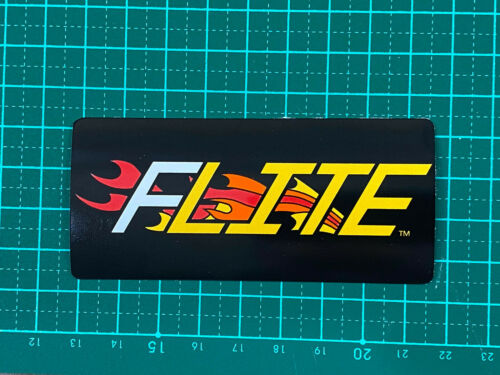 old school bmx decals stickers flite flame decal printed on white