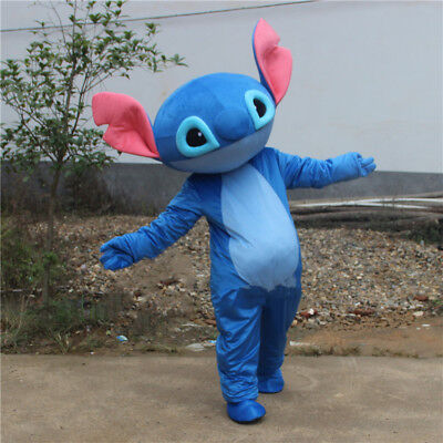 Uk Stitch Mascot Cosplay Adult Lilo Stitch Costume Halloween Party Outfit Suit Ebay