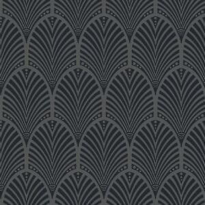 Gatsby Art Déco Tapete dunkelgrau - Holden Decor 65250 metallisch   eBay