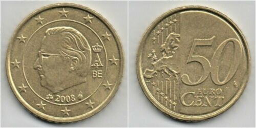 King Albert II 50 cent EURO Belgium 2008