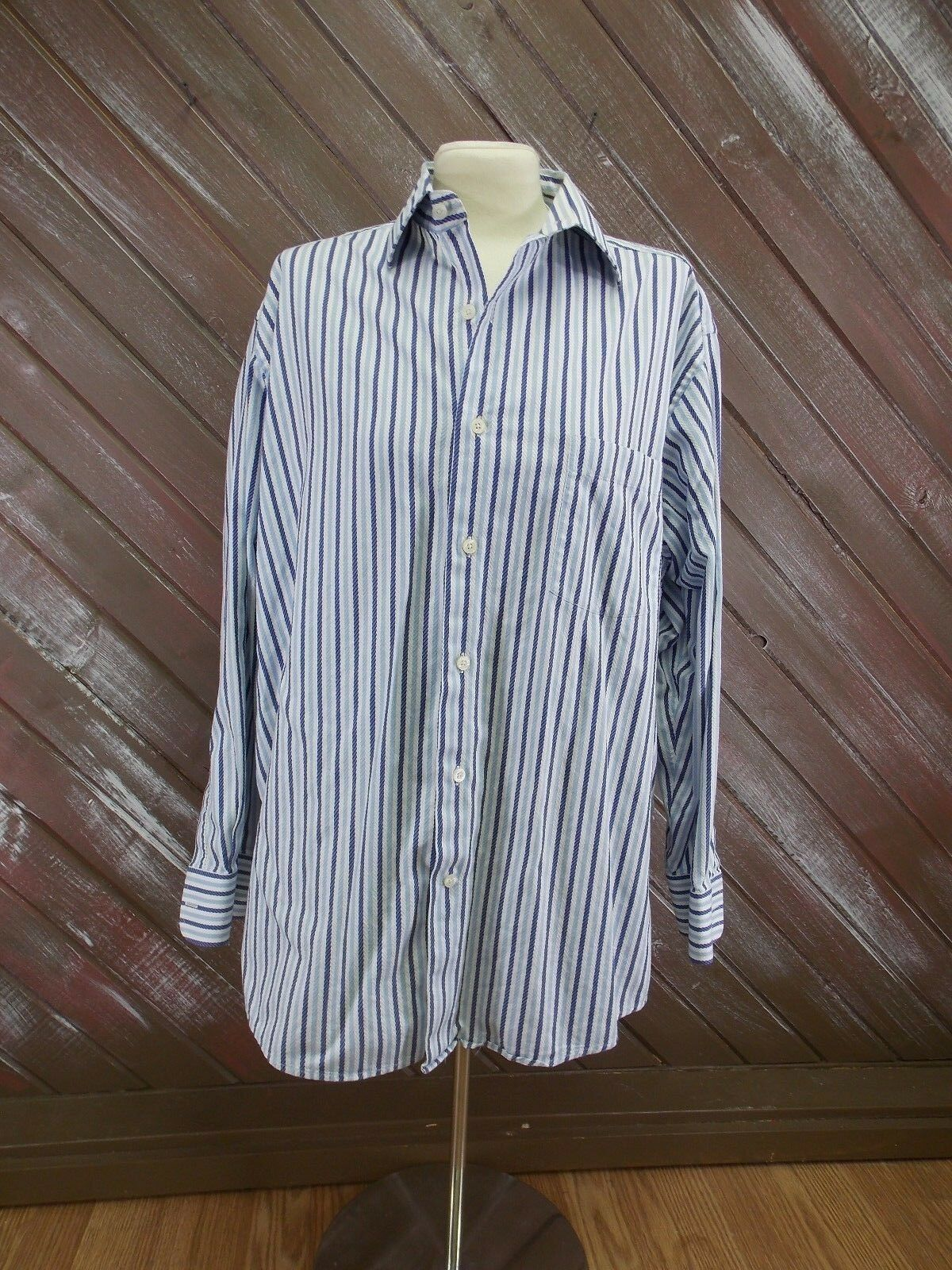 ALEX CANNON Shirt Long Sleeve Full Button Front  Size 16 1 2  Mens Multi-color