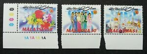 SJ-25-Years-Of-Asean-Malaysia-1992-Attire-Costumes-Mosque-stamp-color-MNH
