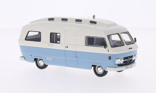 Mercedes L206d Orion II Camper bianca / Light blu 1:43 Model NEO SCALE MODELS