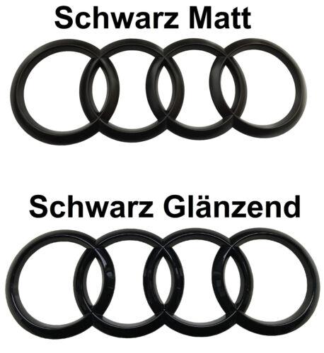 Audi TT 8J Ringe Schwarz Glanz Matt Hinten Emblem Quattro S-Line TFSI TTS TTRS