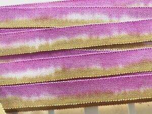 Vintage-Cotton-Rayon-5-8-034-Petersham-Ribbon-Plum-Bronze-1y-Made-in-France
