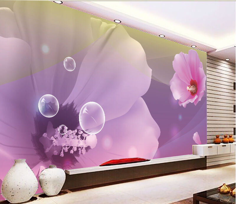 3D Flowers And Bubbles 812 Paper Wall Print Wall Decal Wall Deco Indoor Murals
