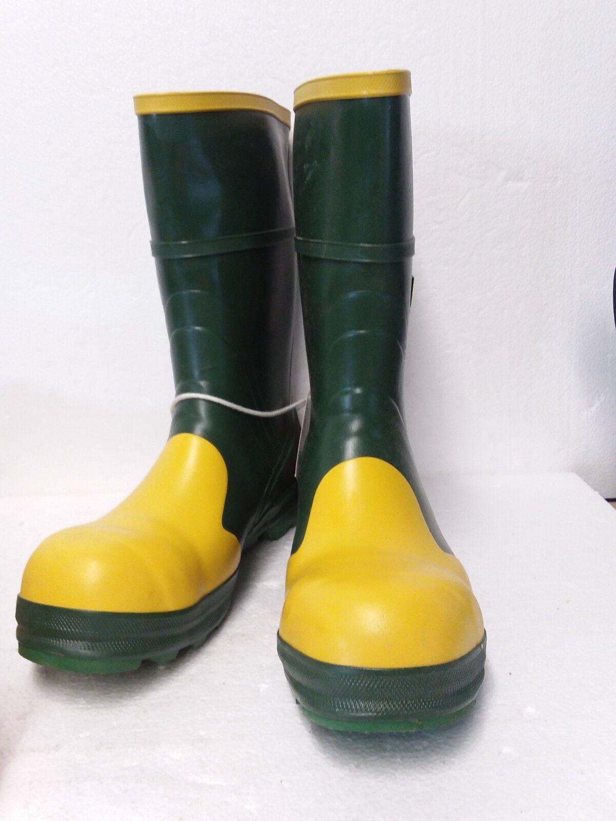 botas De Seguridad Para Hombre Leigh Outfitters 3149, verde amarillo, tamaño; 10