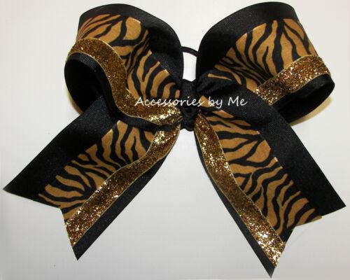 Missouri Mizzou Cheer Bow Football Tiger Black Gold 6 inch Cheerleader Wild Cat