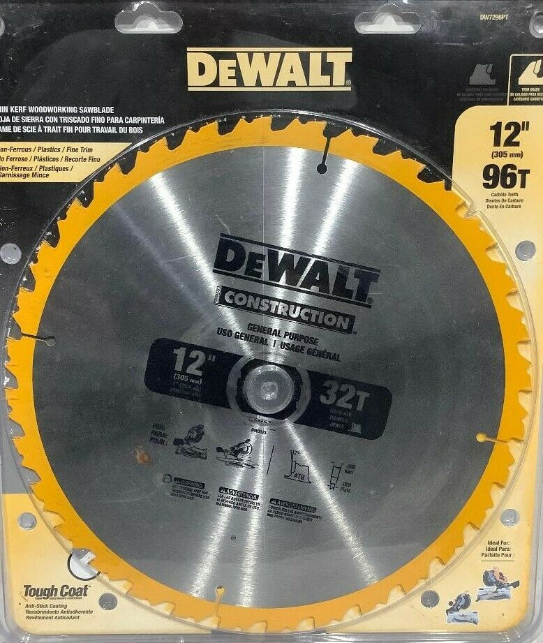 Dewalt Accessories DW3123 12-Inch 32-TPI Carbide-Tipped Circular Saw Blade