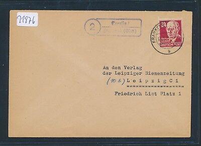 Landpost Ra2 2 Treplin / Frankfurt oder Brief 1949 Zielsetzung 21976 Ddr