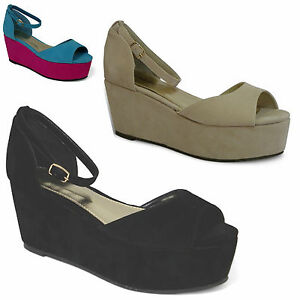 womens-new-flatform-contrast-peep-toe-sandal-ladies-platform-wedge-shoe-size3-8