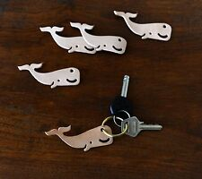 Mr. Zhou Little Sperm Whale Tag Key Ring *Vegetable Leather Tag with Brass Ring*