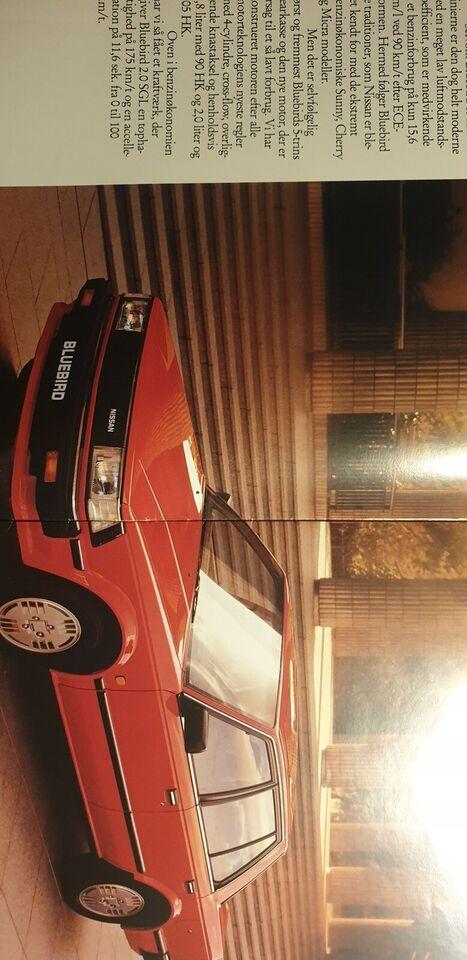 Brochure, Nissan Bluebird
